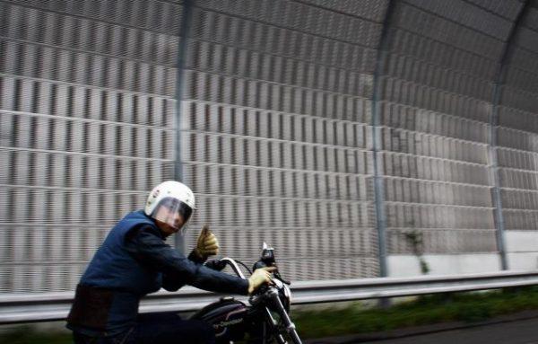 ヒデモのスポーツスターカスタムでのツーリング風景